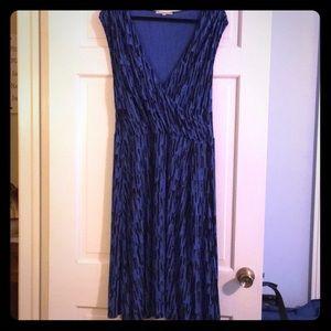 Gap sleeveless wrap dress